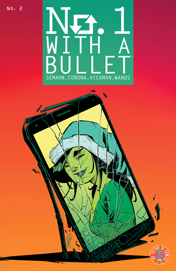 Cover to 'No. 1 With a Bullet' #2. Art by Jorge Corona/Image Comics