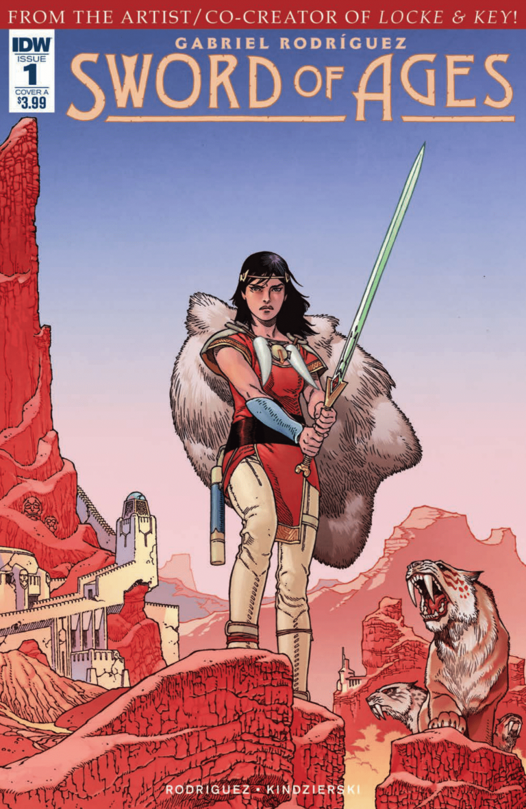 Cover to 'Sword of Ages' #1. Art by Gabriel Rodriguez and Lovern Kindzierski/IDW Publishing