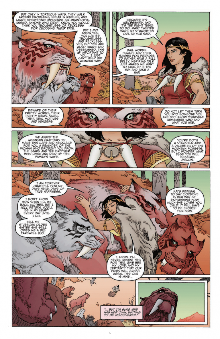 Interior page from 'Sword of Ages' #1. Art by Gabriel Rodriguez, Lovern Kindzierski, and Robbie Robbins/IDW Publishing