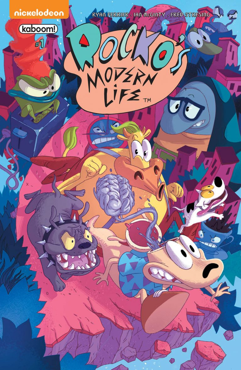 Cover to 'Rocko's Modern Life' #1. Art by Jorge Monlongo/BOOM! Studios/KaBOOM!