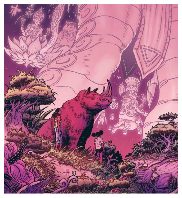 Cloudia and Rex. Art by Daniel Irizarri/Buño Publishing/Lion Forge Comics
