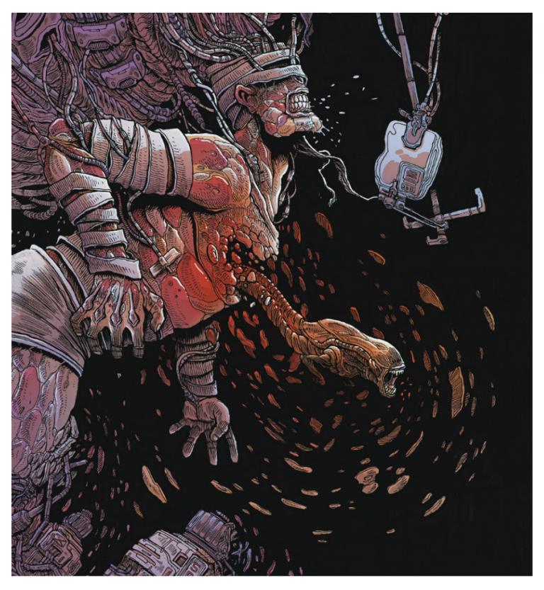 Aliens: Dead Orbit. Art by James Stokoe/Dark Horse Comics