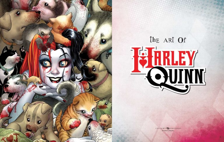 Interior pages from 'The Art of Harley Quinn'. Art by Amanda Conner and Paul Mounts/Insight Editions/DC Comics