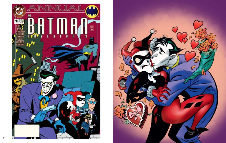 Interior pages from 'The Art of Harley Quinn'. Art by Bruce Timm/Insight Editions/DC Comics