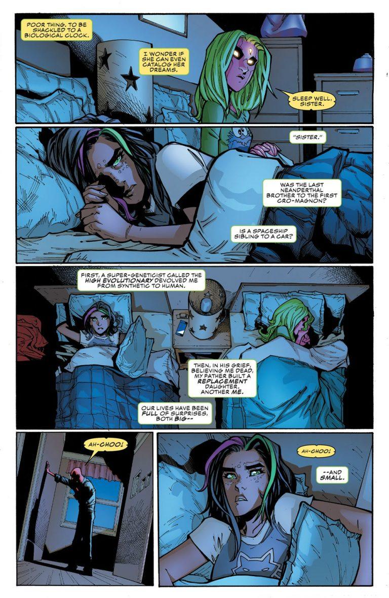 Interior page to 'Champions' #16. Art by Humberto Ramos, Victor Olazaba, Edgar Delgado, and Clayton Cowles/Marvel Comics