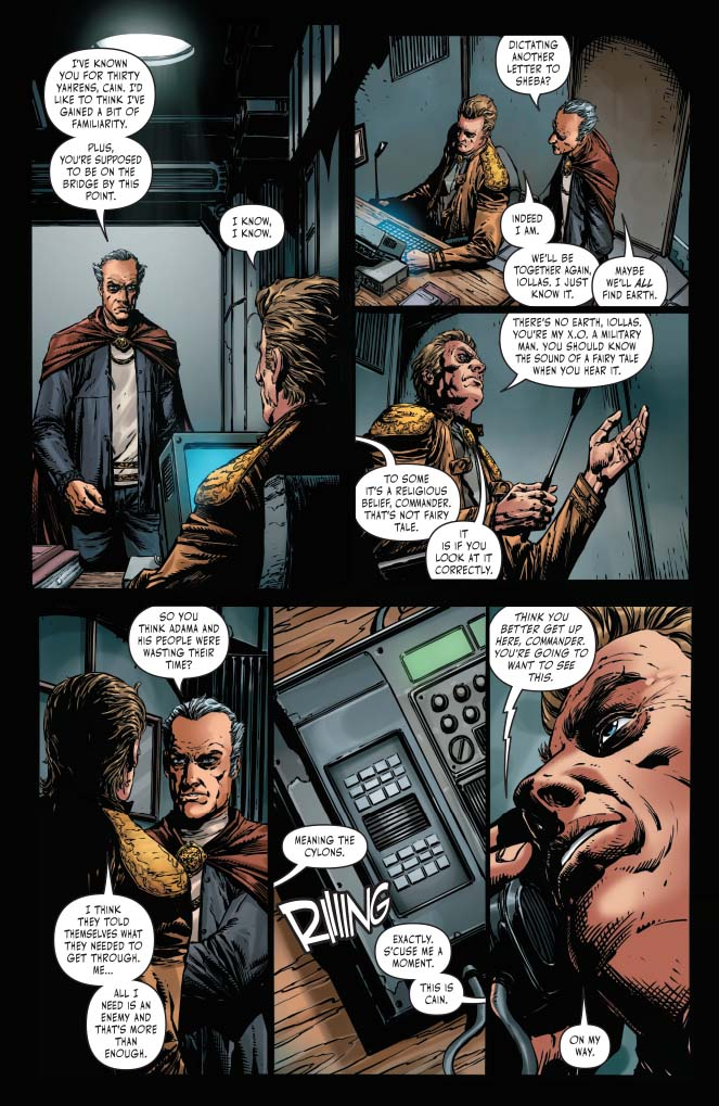 Interior page from 'BSG vs. BSG' #1.Art by Johnny Desjardins, Mohan, and Taylor Esposito/Dynamite
