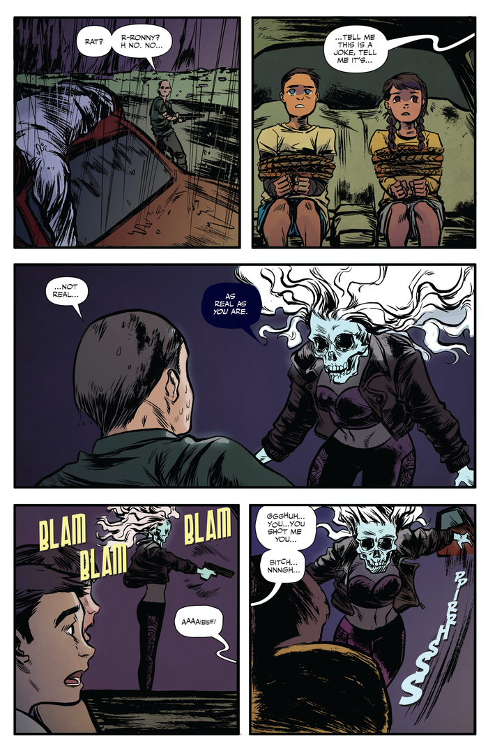 Interior page from 'Fantomah' #3 Art by Soo Lee, Meaghan Carter, and Andrew Thomas/Chapterhouse Comics