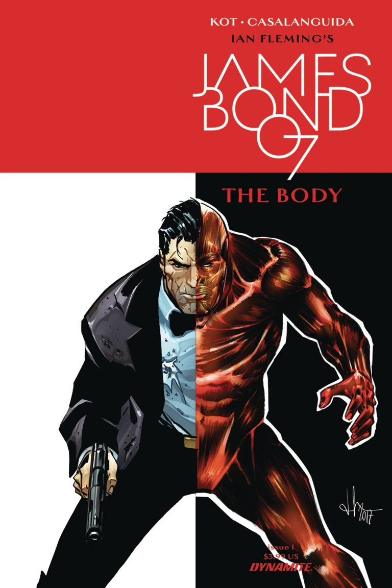 Cover to 'James Bond: The Body' #1. Art by Luca Casalanguida/Dynamite