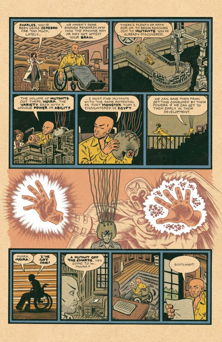 Interior page from 'X-Men: Grand Design' # 1. Art by Ed Piskor/Marvel Comics