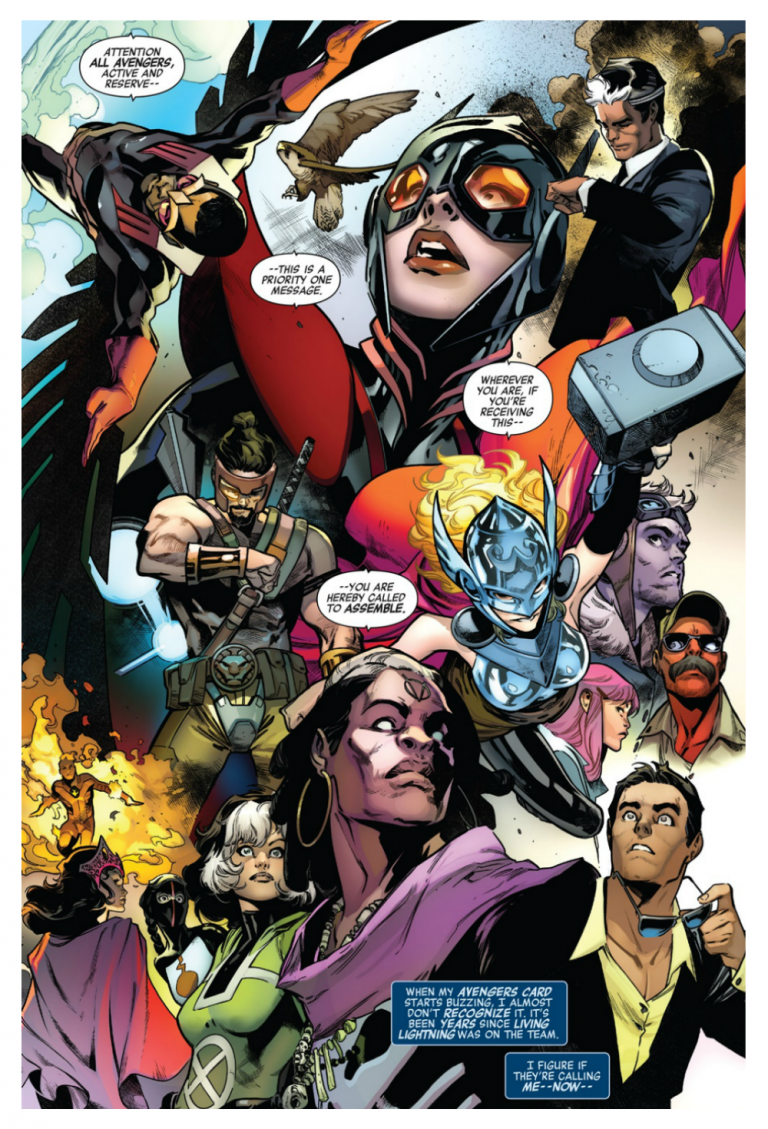 Interior page from 'Avengers' #675. Art by Pepe Larraz, David Curiel, and Cory Petit/Marvel Comics