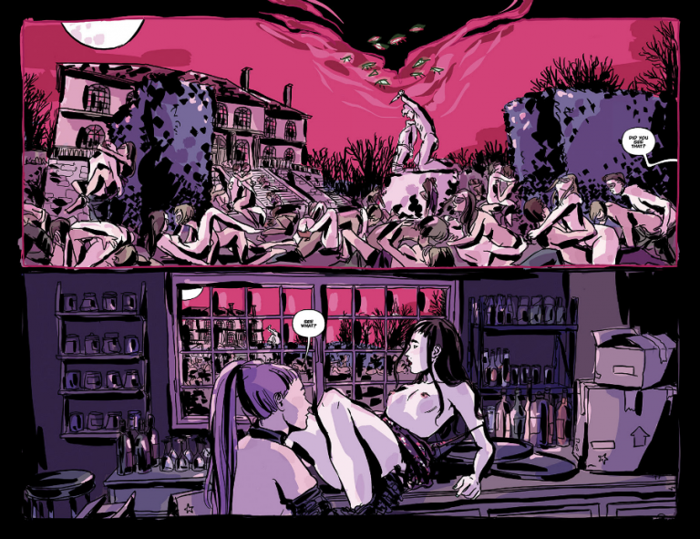 Interior pages from 'There's Nothing There' TPB. Art by Maria Llovet and Jim Campbell/Black Mask