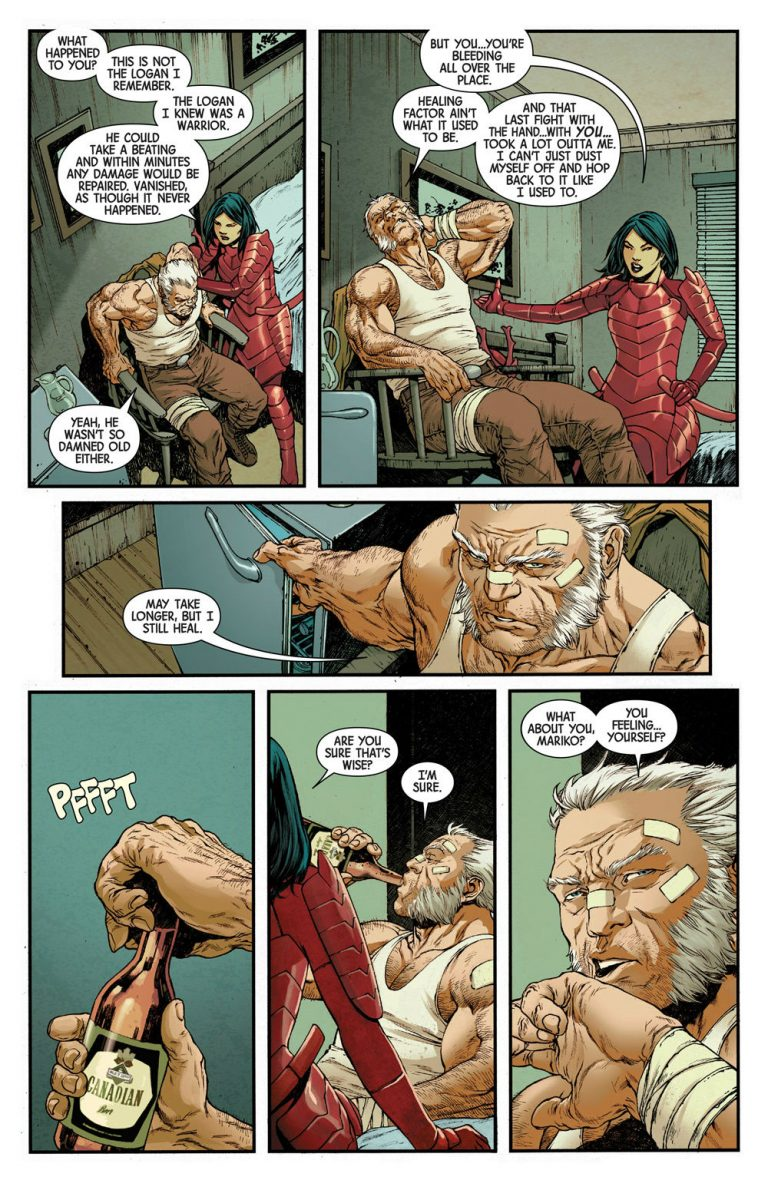 Interior page from 'Old Man Logan' #34. Art by Ibraim Roberson, Carlos Lopez, and Cory Petit/Marvel Comics