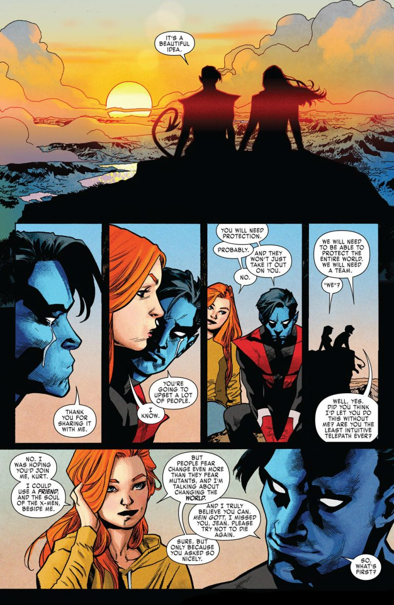 Interior page from 'X-Men: Red' #1. Art by Mahmud Asrar, Ive Svorcina, Cory Petit/Marvel Comics