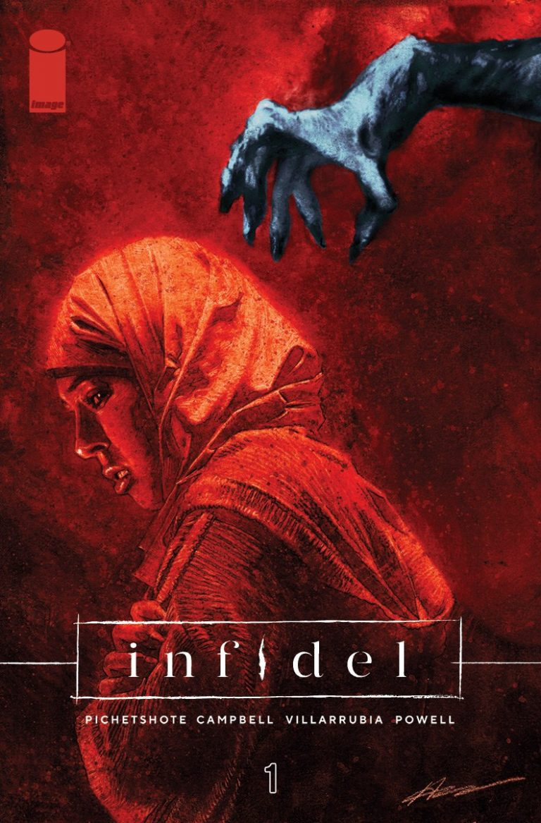 Cover to 'Infidel' #1. Art by Aaron Campbell and José Villarrubia/Image Comics