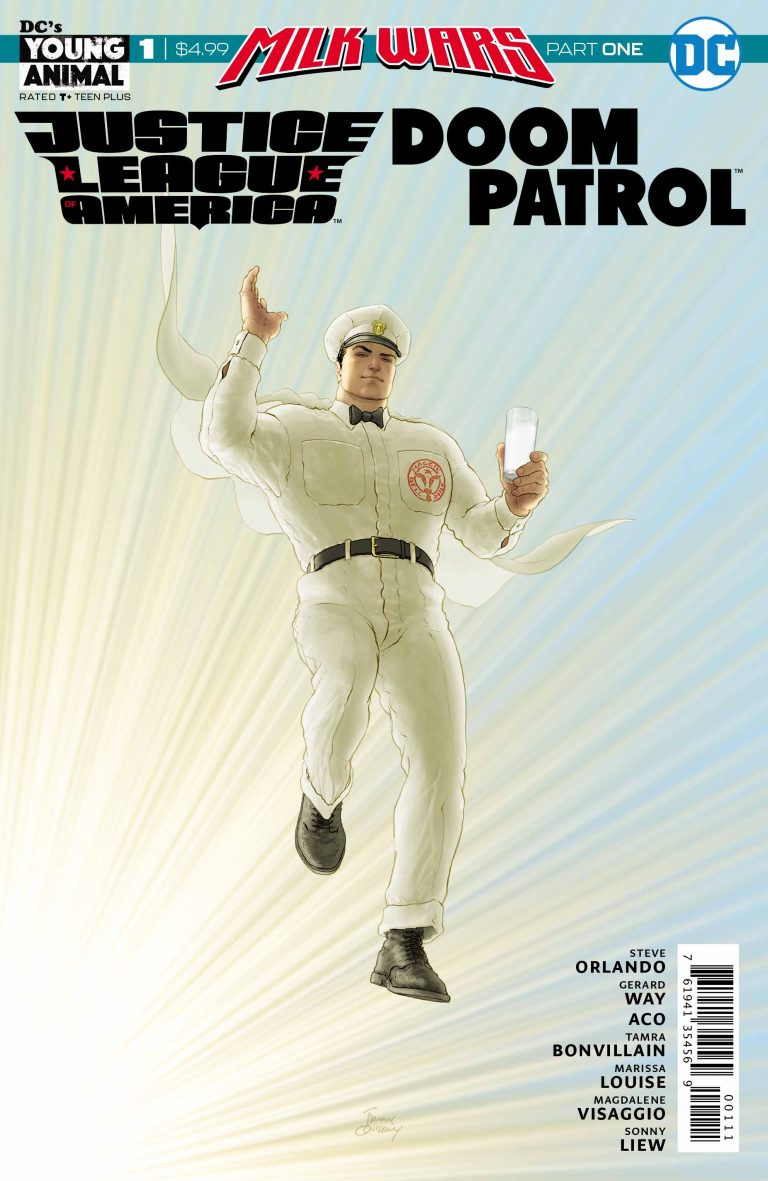 Cover to 'JLA/Doom Patrol Special' #1. Art by Frank Quitely/DC Comics/DC's Young Animal
