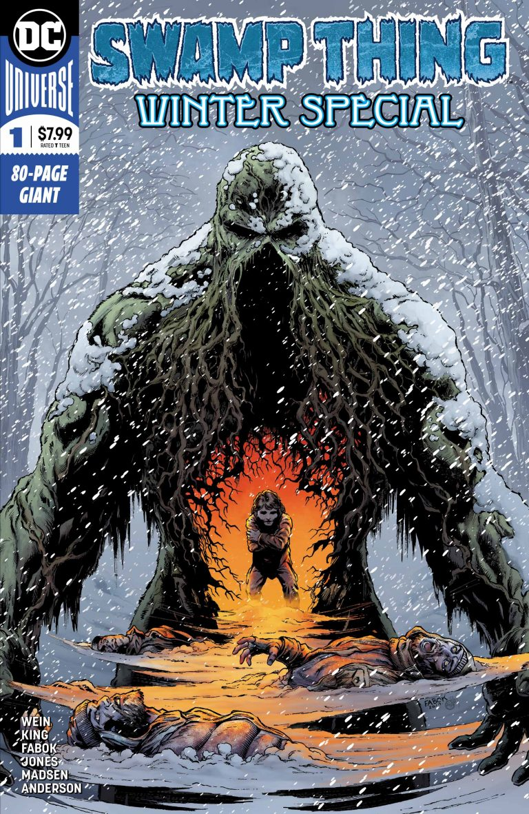 Cover to 'Swamp Thing Winter Special' #1. Art by Jason Fabok and Brad Anderson/DC Comics