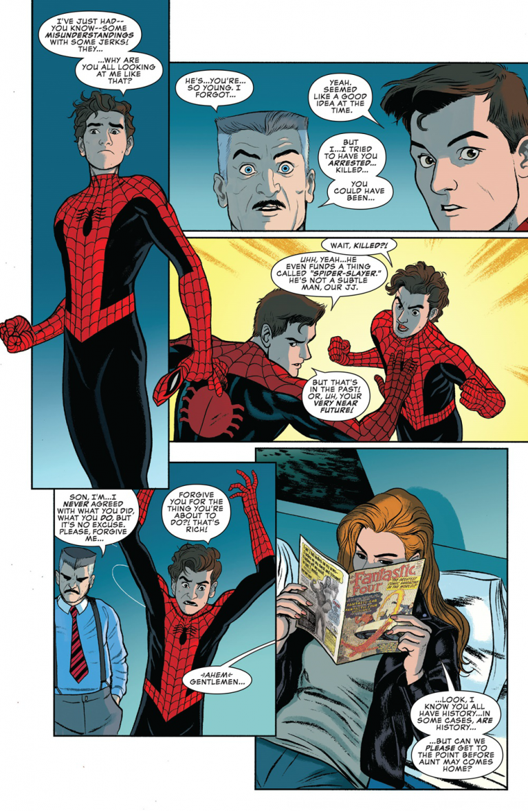 Interior page from 'Peter Parker: The Spectacular Spider-Man' #301. Art by Joe Quinones, Joe Rivera, Jordan Gibson, and Travis Lanham/Marvel Comics
