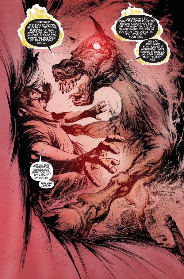 Interior page from 'Hungry Ghosts' #2. Art by Leonardo Manco and José Villarrubia/Dark Horse Comics/Berger Books