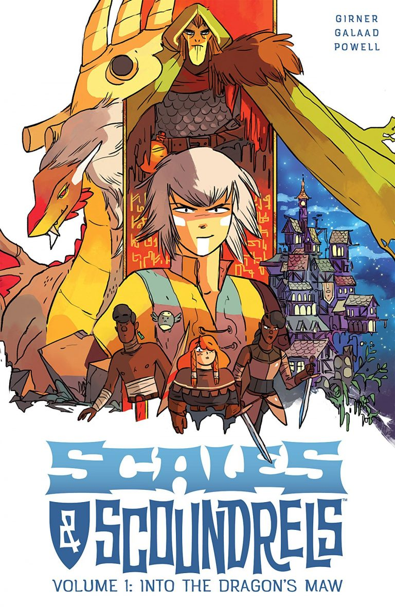 Cover to 'Scales & Scoundrels Vol. 1: Into the Dragon's Maw'. Art by Galaad, andJeff Powell/Image Comics