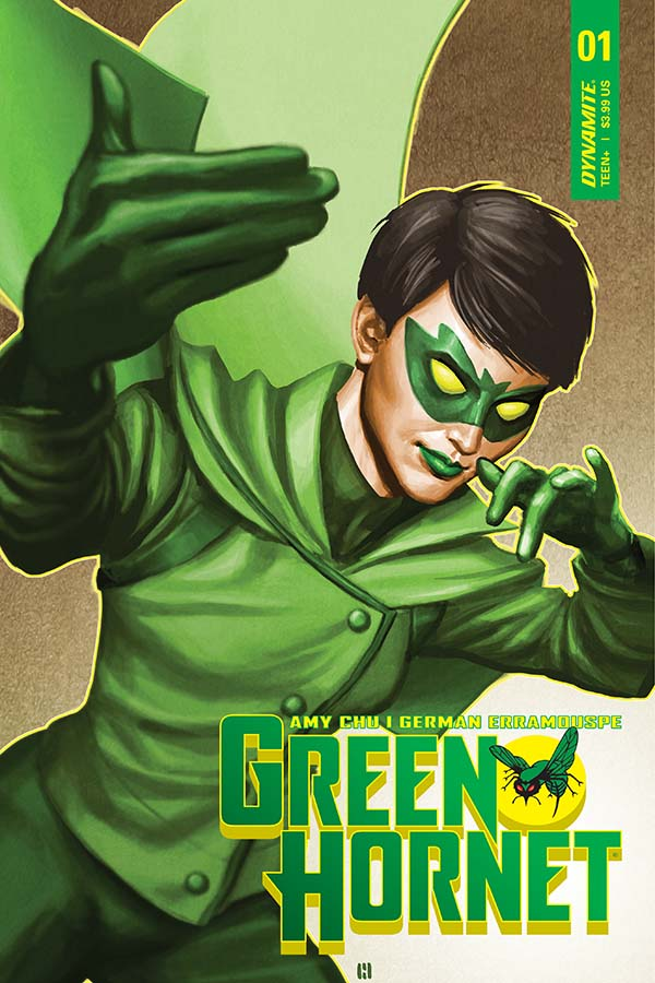 Cover to 'Green Hornet' #1. Art by Mike Choi/Dynamite