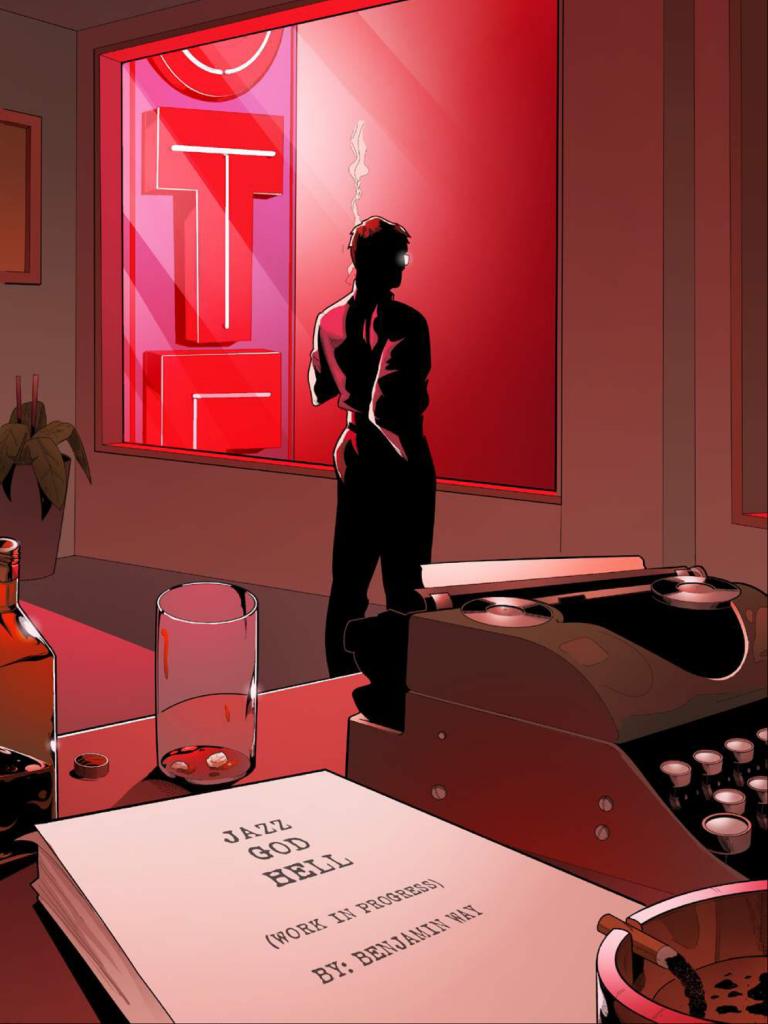 Interior page from 'Jazz Legend' #1. Art by Vasco Duarte/Cristian Docolomansky/Patrick Gama/Scout Comics