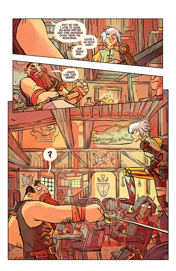 Interior page from 'Scales & Scoundrels Vol. 1: Into the Dragon's Maw'. Art by Galaad, andJeff Powell/Image Comics