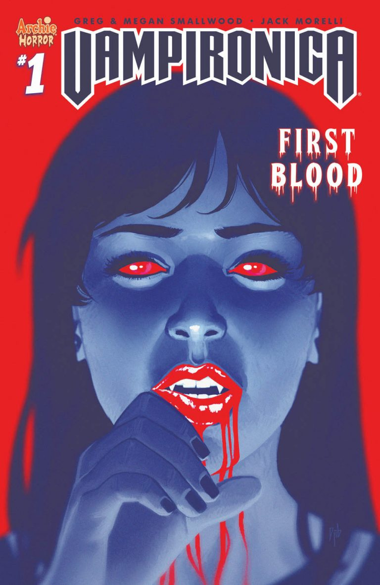 Variant cover to 'Vampironica' #1. Art by Djibril Morissette-Phan/Archie Comics