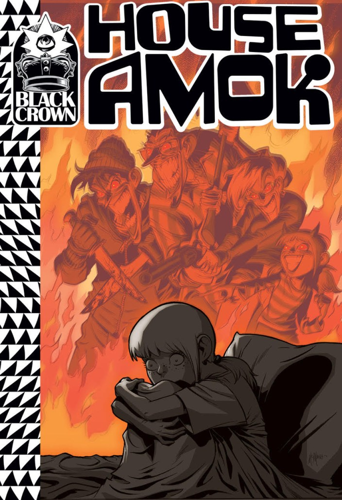 Cover to 'House Amok' #1. Art by Shawn McManus/Black Crown/IDW Publishing