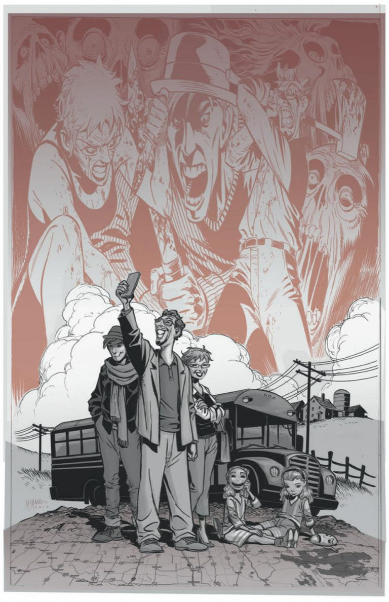 Promotional art for 'House Amok' #1. Art by Shawn McManus/Black Crown/IDW Publishing