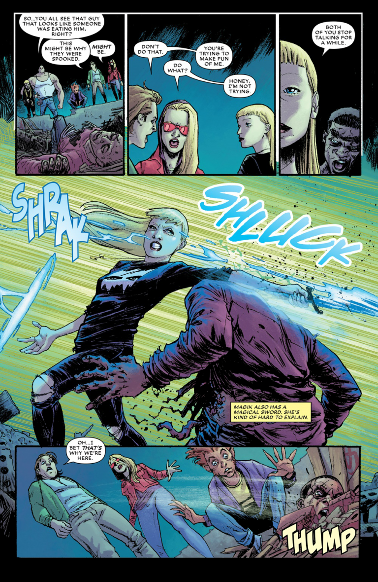 Interior page from 'New Mutants: Dead Souls' #1. Art by Adam Gorham, Michael Garland, and Clayton Cowles/Marvel Comics