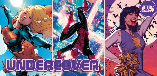 Undercover: Quinones makes our heads spin with his cover to 'Spectacular Spider-Man'
