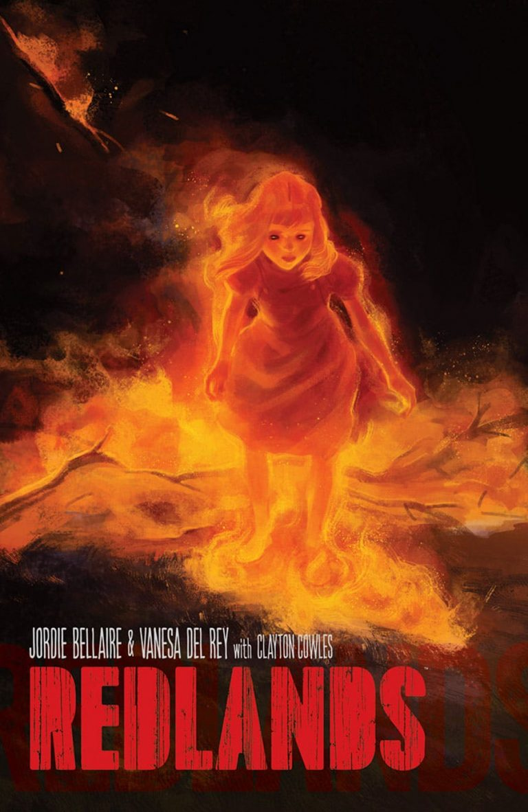 Cover to 'Redlands' TPB. Art by Vanesa Del Rey and Jordie Bellaire/Image Comics