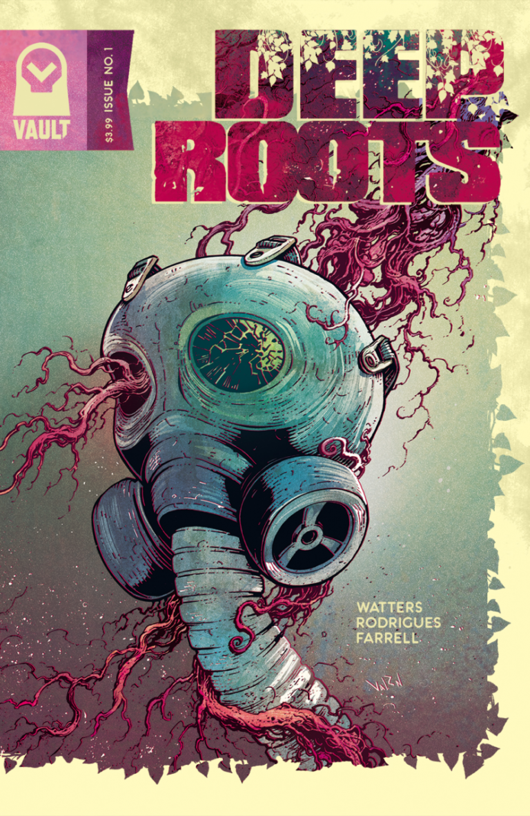 Variant cover to 'Deep Roots' #1. Art by Val Rodrigues/Vault Comics