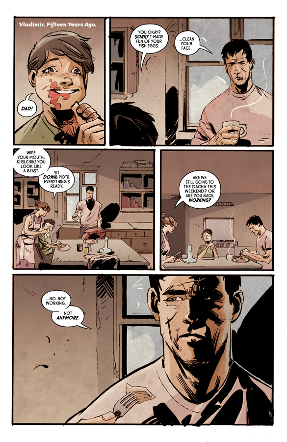 Interior page from 'Crude' #1. Art by Garry Brown, Lee Loughridge, and Thomas Mauer/Image Comics