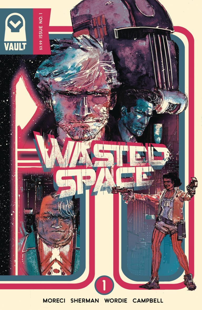 Variant cover to 'Wasted Space' #1. Art by Hayden Sherman/Vault Comics