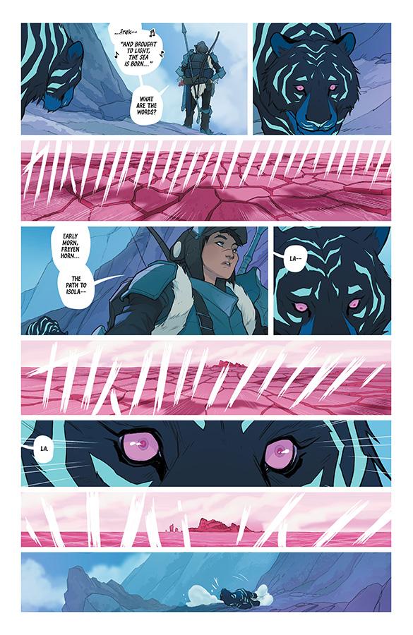 Interior page from 'Isola' #2. Art by Karl Kerschl, Msassyk and Aditya Bidikar/Image Comics
