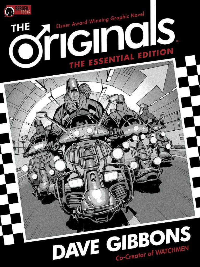 Cover to 'The Originals Essential Edition' HC. Art by Dave Gibbons and Richard Bruning/Berger Books/Dark Horse Comics