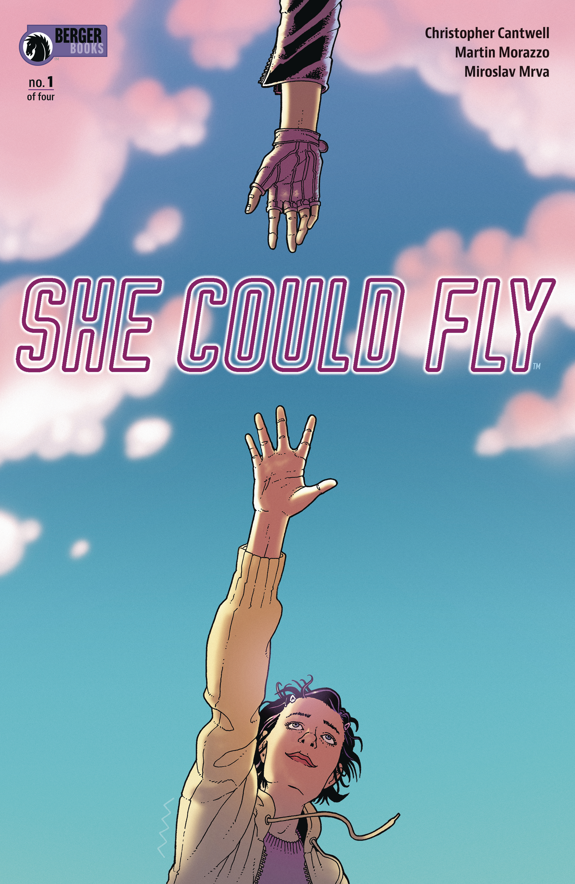 Cover to 'She Could Fly' #1. Art by Martin Morazzo and Miroslav Mrva/Berger Books/Dark Horse Comics