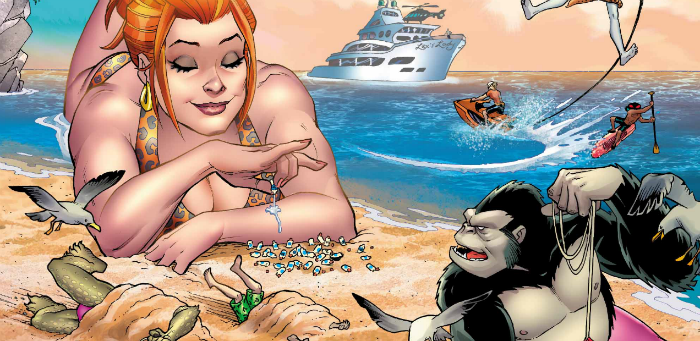 DC's summer special lets us step into the felonious flip-flops of its 'Beach Blanket Bad Guys'
