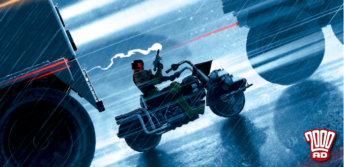 """Judge Dredd feels our """"Commuter Pain"""" in this preview of '2000 AD' prog 2090"""