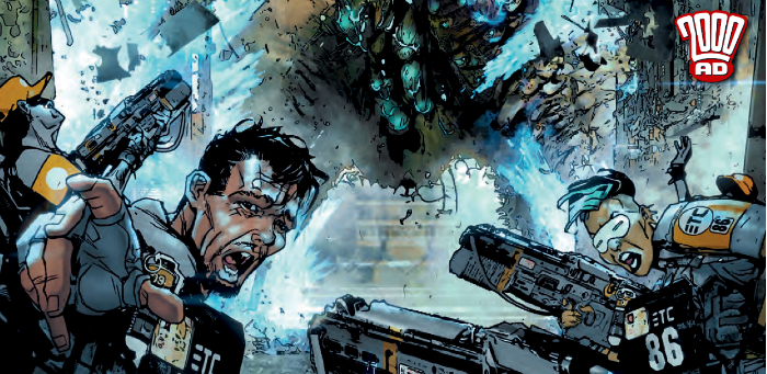 Preview: Captain Bulliet puts the hurt on a nasty Code One in '2000 AD' prog 2091