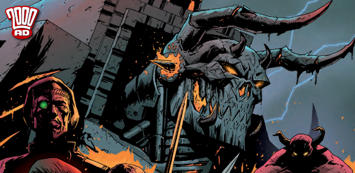 Preview: Woe betide those who blunder into the path of Mechastopheles in '2000 AD' Prog 2093