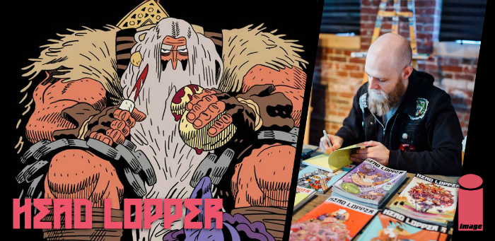 10 things concerning Andrew MacLean and the third thrilling volume of 'Head Lopper'