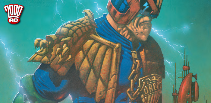 Preview: Dredd's giant-sized grimace tops Millgate's mighty cover to '2000 AD' Prog 2098