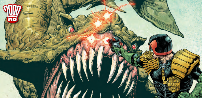 Preview: Judge Dredd takes aim at the dread Dune Shark in '2000 AD' Prog 2102
