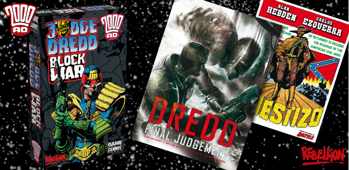 Deck your halls with a Thrill-powered gift guide from  '2000 AD' and Rebellion Publishing