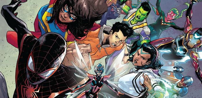 Fresh-faced super-teens unite against a grim sense of foreboding in 'Champions' #1