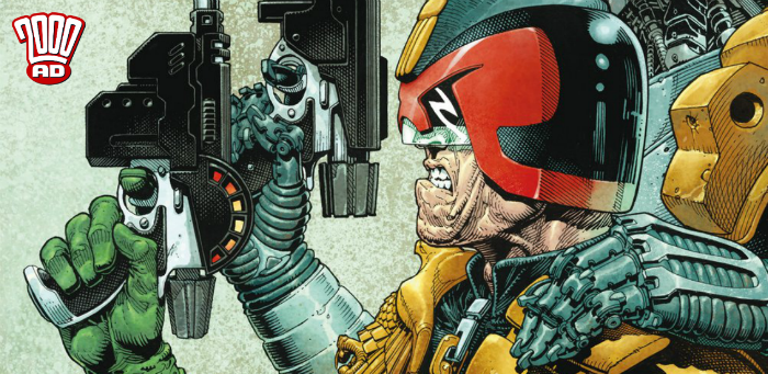 "Preview: John Wagner and Colin MacNeil enforce ""Machine Law"" in '2000 AD' Prog 2115"