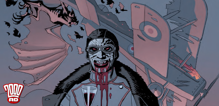 """Preview: """"Fiends of the Eastern Front"""" lets fly the Bat-people in '2000 AD' Prog 2112"""
