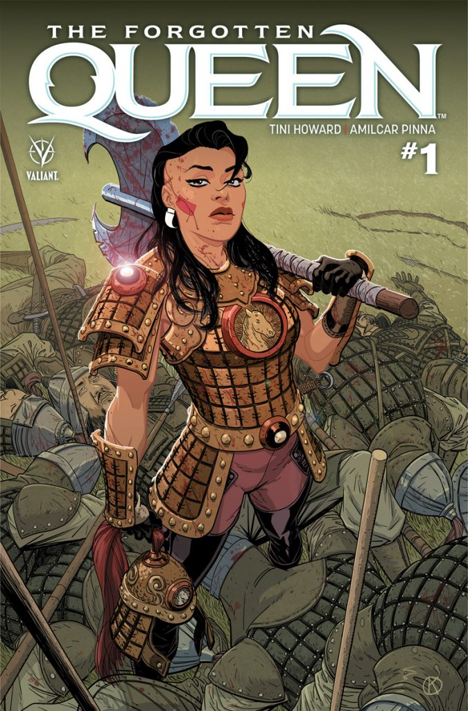 Cover to 'The Forgotten Queen' #1. Art by Kano/Valiant